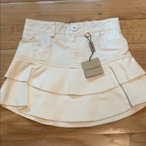 Burberry white ruffle mini skirt